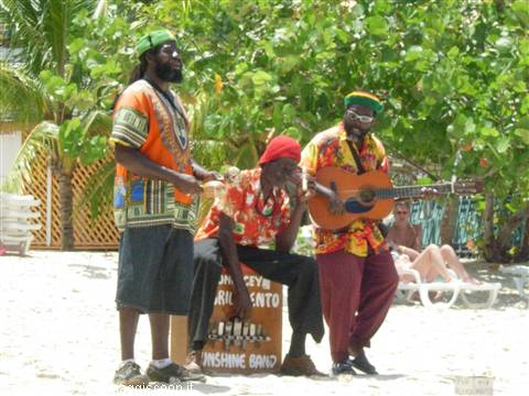Reggae Band on the beach