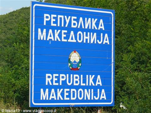 Welcome in MACEDONIA - Dogana fra Albania e Macedonia a Mali Vlaj