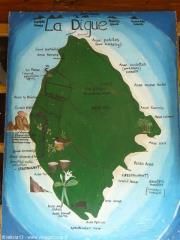 Map in La Passe SEYCHELLES