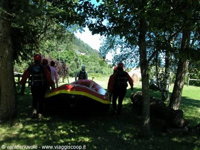foto il torrente noce in rafting
