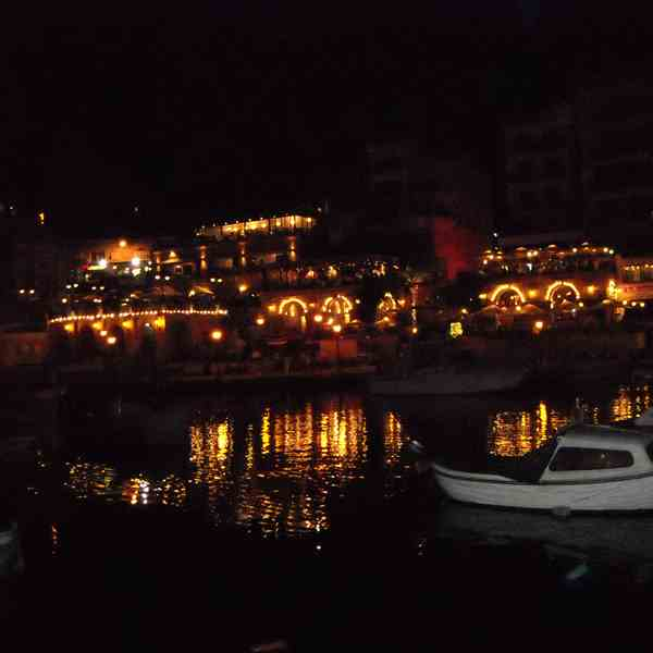 St Julian Bay BY night