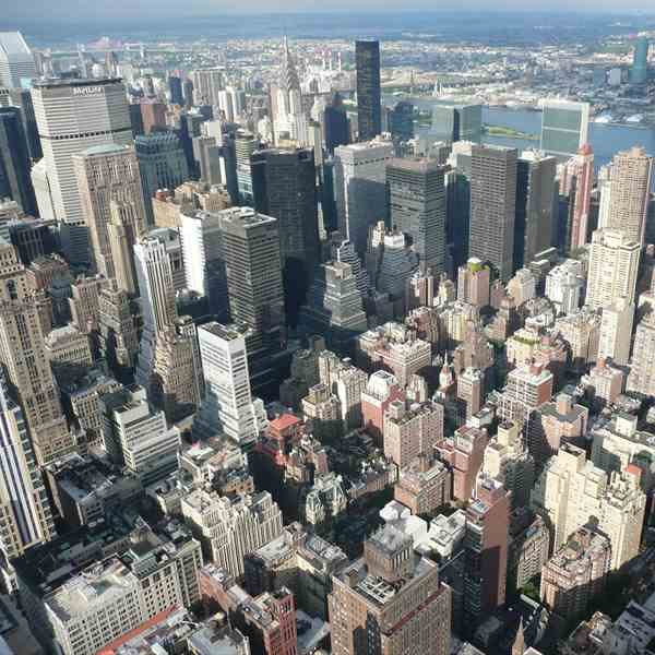 N.Y. vista dall'Empire State Building