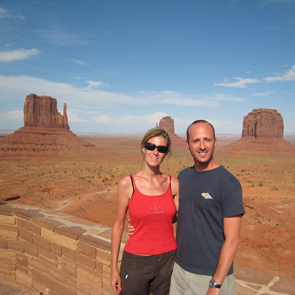 Noi due alla Monument Valley